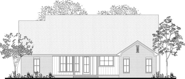 Rear Elevation Plan: 50-383