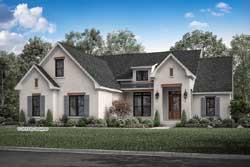 Modern-Farmhouse Style House Plans Plan: 50-383