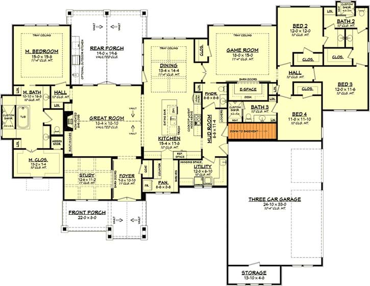 Modern-farmhouse Style Floor Plans 50-384