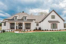 Modern-Farmhouse Style Home Design Plan: 50-386