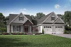 Craftsman Style Home Design Plan: 50-387