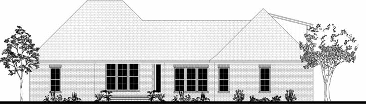 Rear Elevation Plan: 50-388