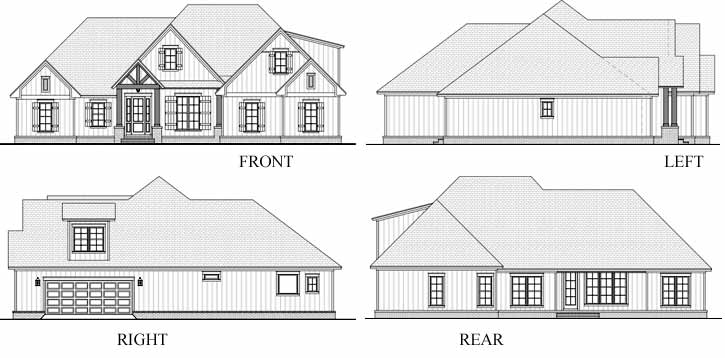 Rear Elevations Plan:50-389
