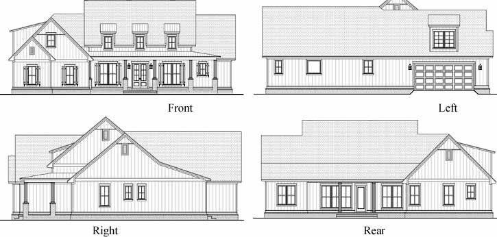 Rear Elevation Plan: 50-390