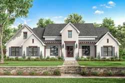 Modern-Farmhouse Style Home Design Plan: 50-392