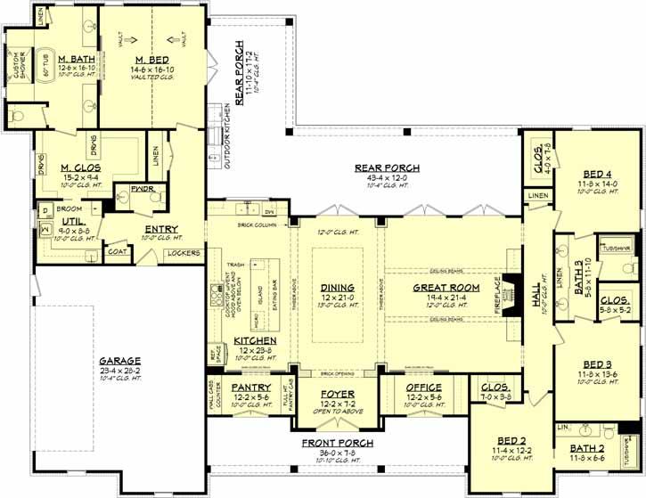 Main Floor Plan: 50-393