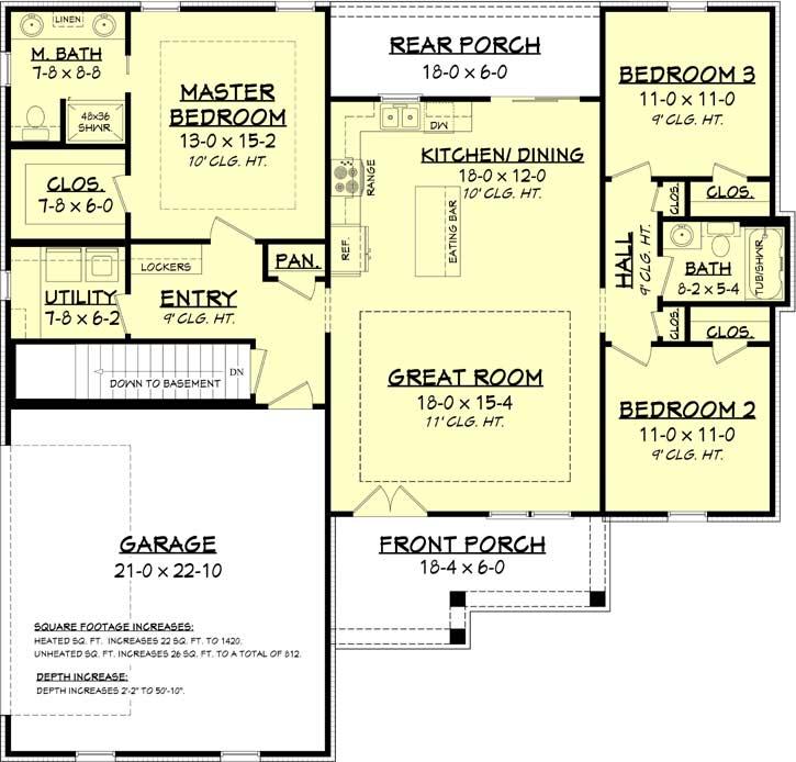 Modern-farmhouse Style Floor Plans 50-394
