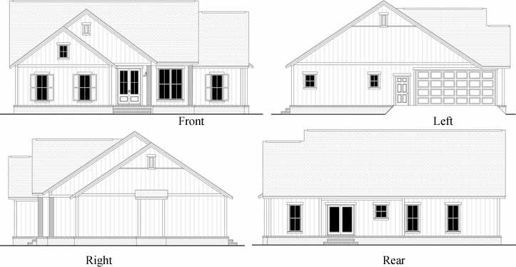 Rear Elevation Plan: 50-394
