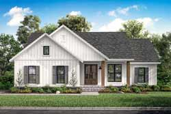 Modern-Farmhouse Style House Plans Plan: 50-394