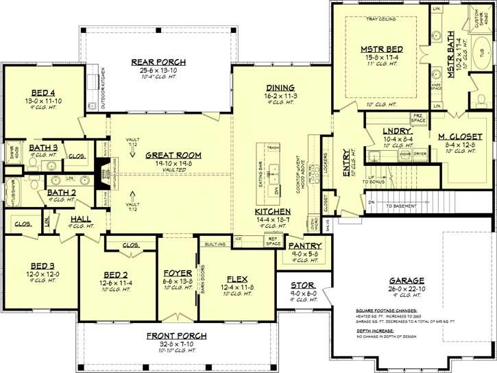 Modern-farmhouse Style House Plans 50-395