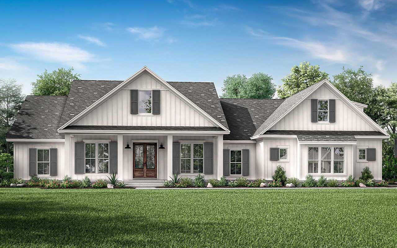 Modern-farmhouse Style House Plans Plan: 50-395