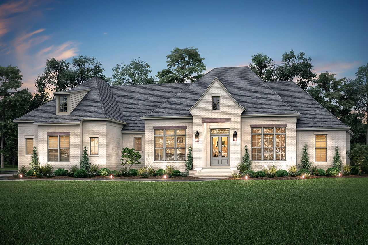 French-country Style Floor Plans Plan: 50-396