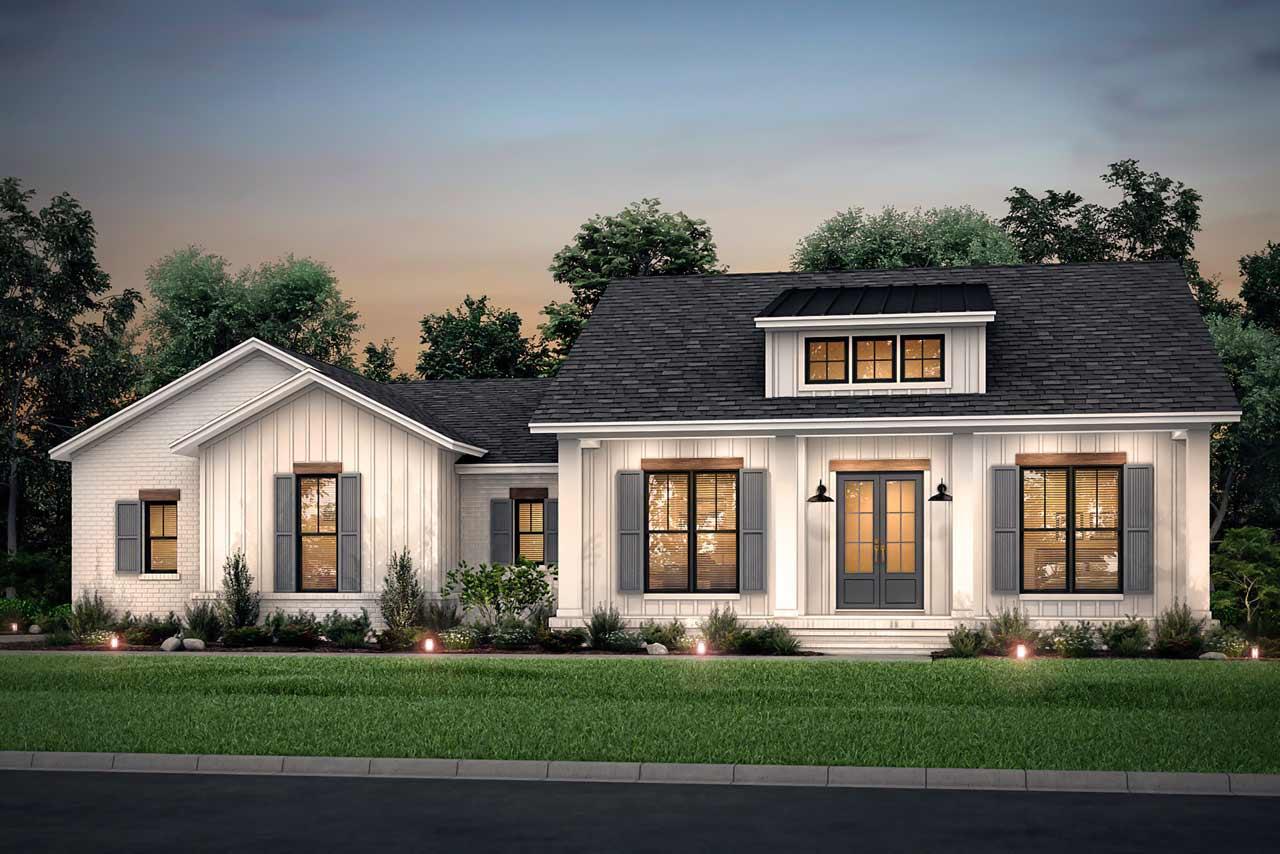 Modern-farmhouse Style Floor Plans Plan: 50-400
