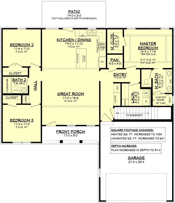 Modern-farmhouse Style Home Design 50-401