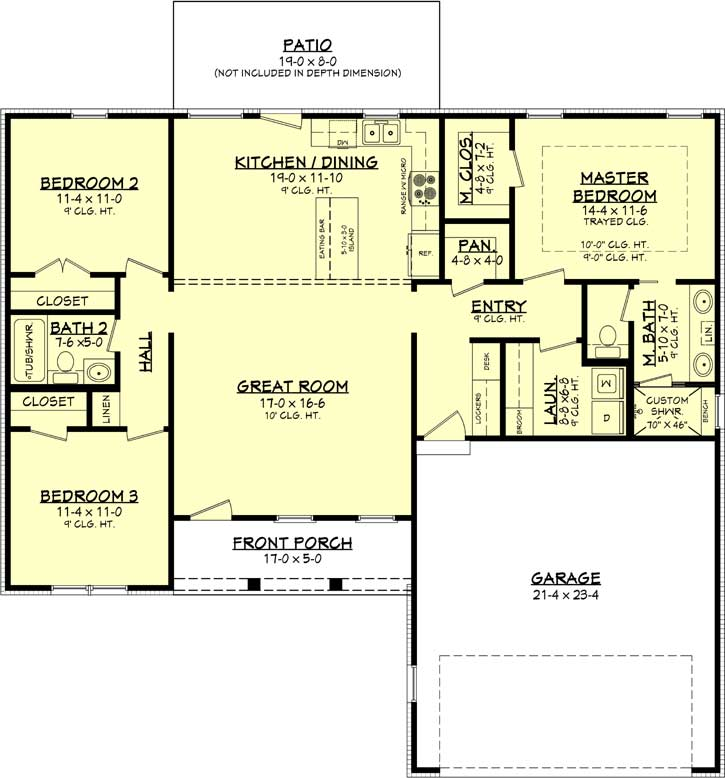 Main Floor Plan: 50-401