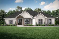 Modern-Farmhouse Style House Plans Plan: 50-402