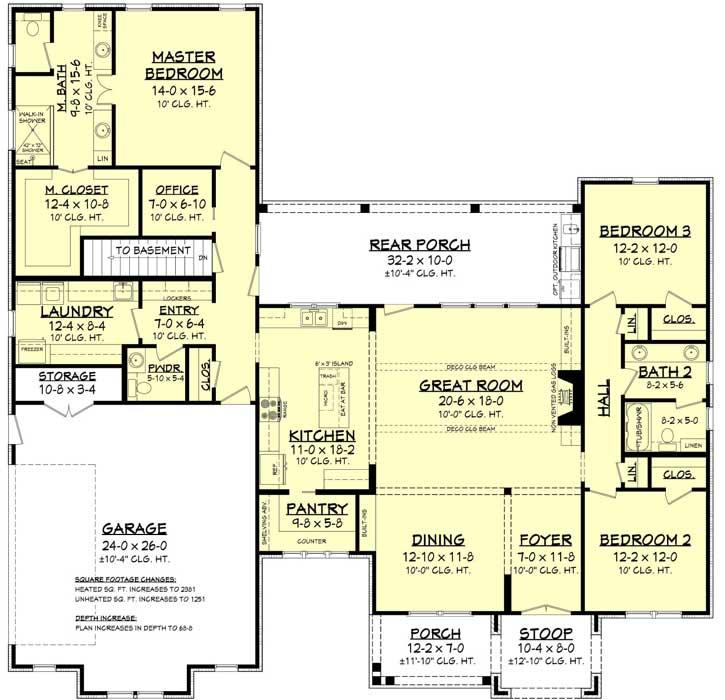 Modern-farmhouse Style House Plans 50-403