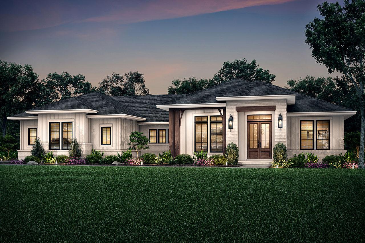 Modern-farmhouse Style House Plans Plan: 50-403