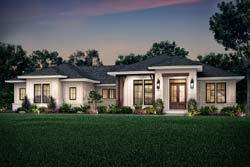 Modern-Farmhouse Style Home Design Plan: 50-403