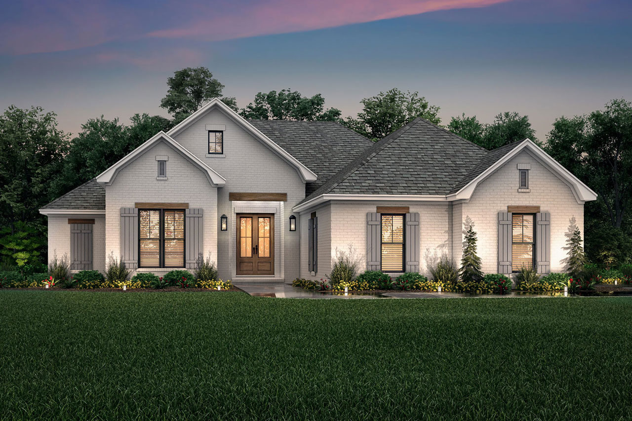 French-country Style Home Design Plan: 50-405