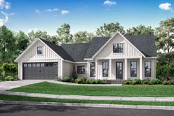 Modern-Farmhouse Style Home Design Plan: 50-409