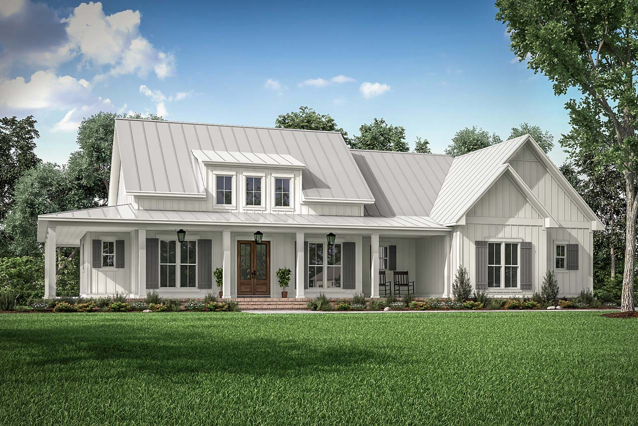 Modern-farmhouse Style House Plans Plan: 50-411