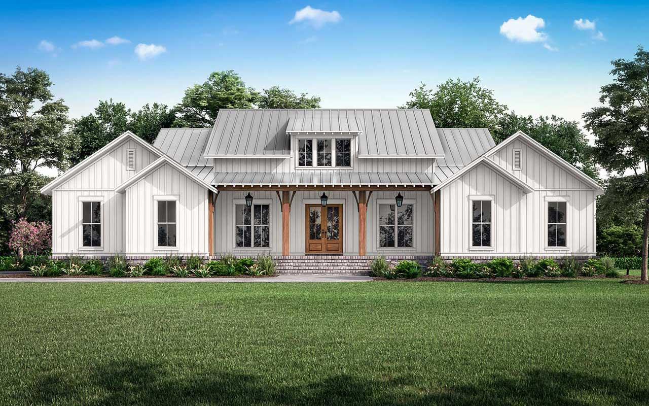 Modern-farmhouse House Plan - 3 Bedrooms, 2 Bath, 2589 Sq ...