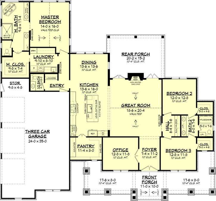 Main Floor Plan: 50-416