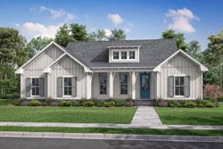 Modern-Farmhouse Style Home Design Plan: 50-417