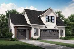 Modern-Farmhouse Style House Plans Plan: 50-424
