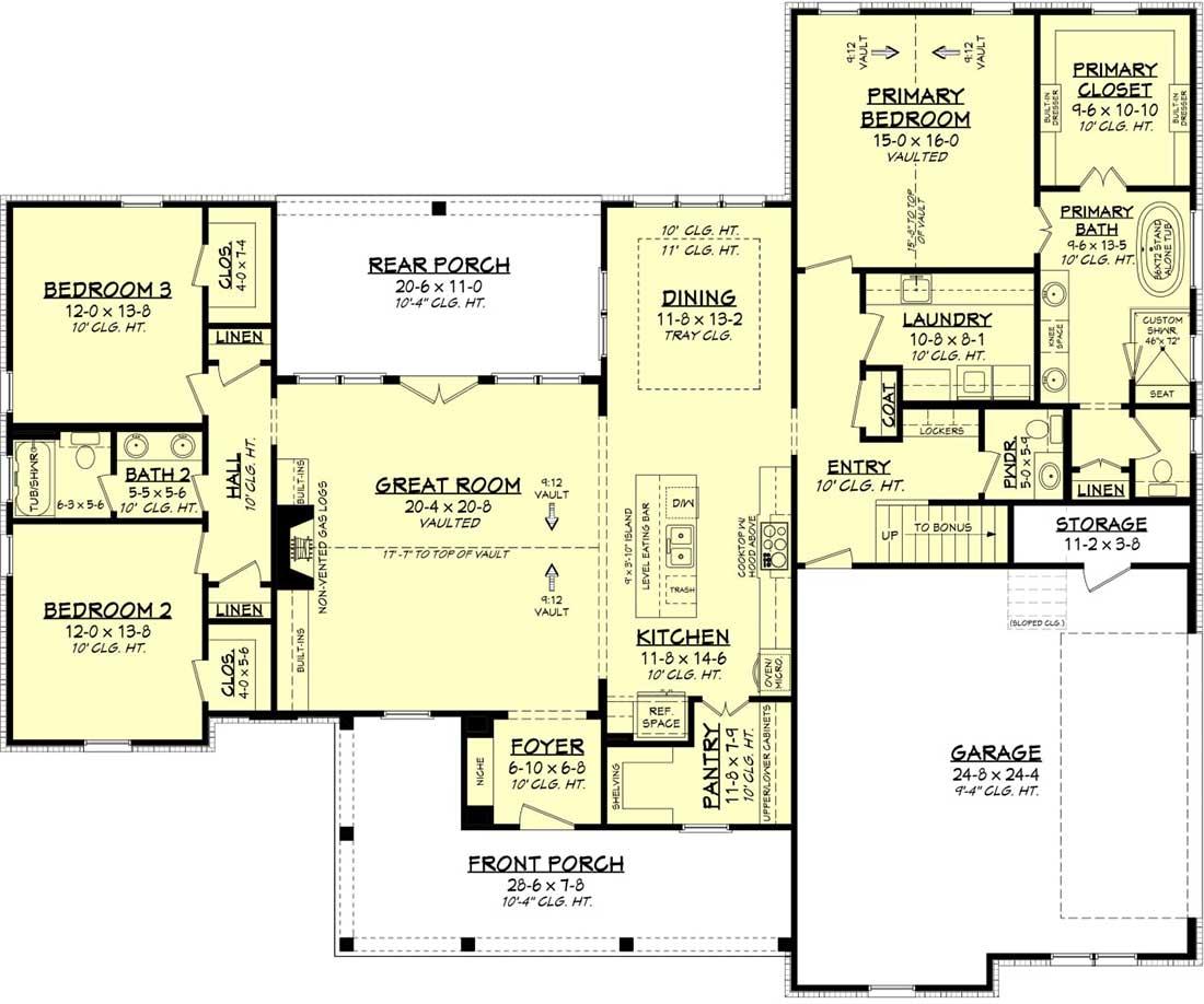 Main Floor Plan: 50-428
