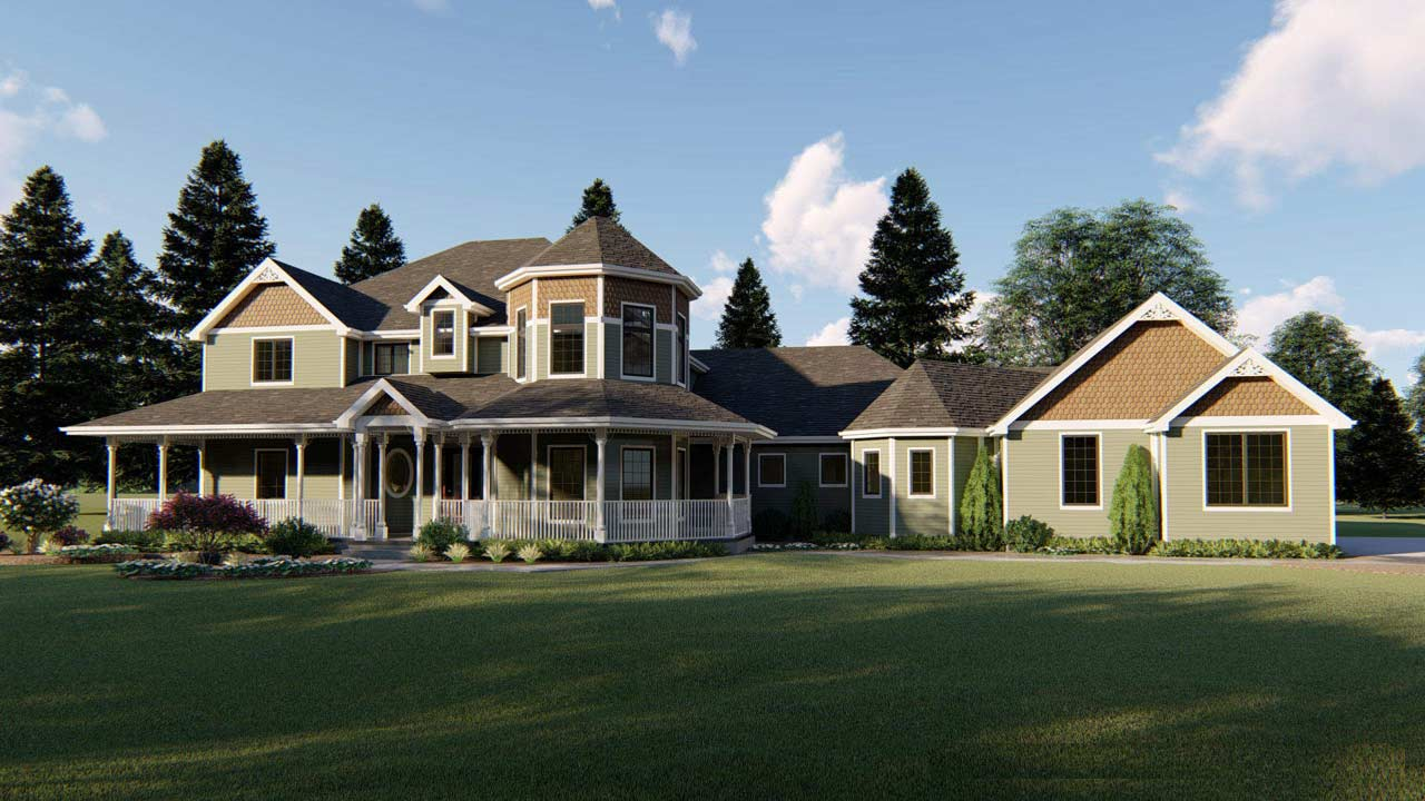 Victorian Style House Plans Plan: 52-102