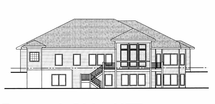 Rear Elevation Plan: 52-111