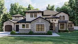Mediterranean Style Home Design Plan: 52-113