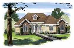 Traditional Style Home Design Plan: 52-119