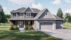 Country Style Home Design Plan: 52-123