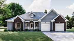 Traditional Style Home Design Plan: 52-148