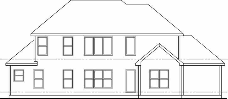 Rear Elevations Plan:52-158