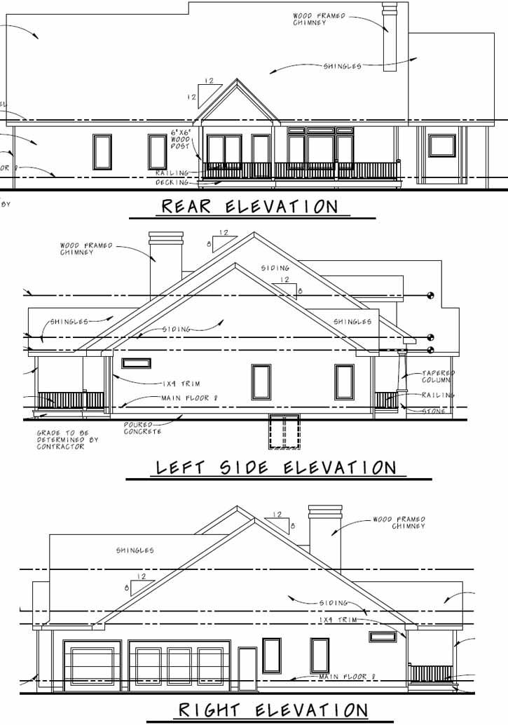 Rear Elevations Plan:52-193