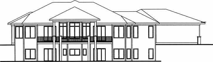 Rear Elevation Plan: 52-195
