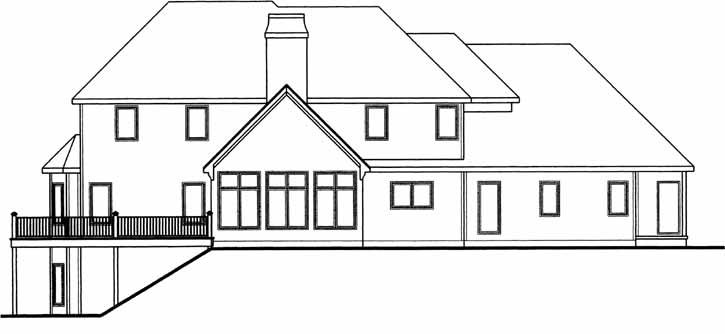 Rear Elevation Plan: 52-199