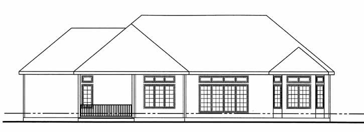Rear Elevation Plan: 52-202