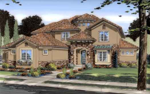 Tuscan Style Floor Plans Plan: 52-240