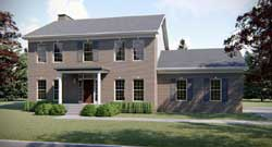 Colonial Style Home Design Plan: 52-262
