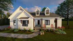 Modern-Farmhouse Style House Plans Plan: 52-268