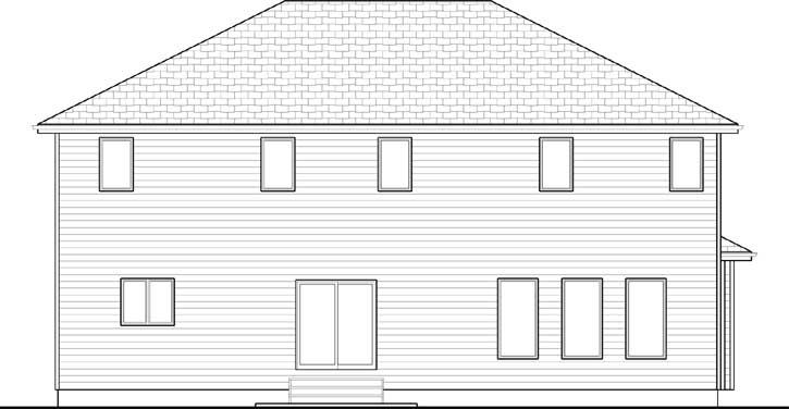 Rear Elevation Plan: 52-272