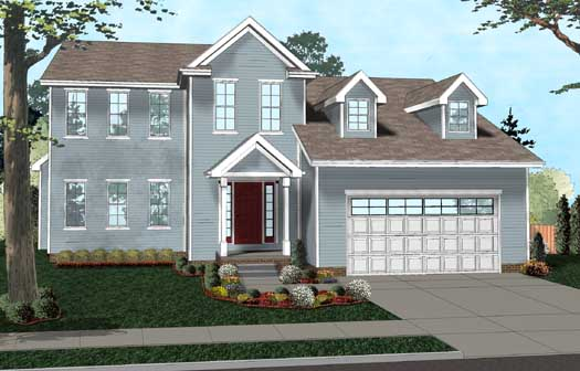 Colonial Style House Plans Plan: 52-283