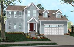 Colonial Style Home Design Plan: 52-283