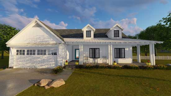 Modern-farmhouse Style Floor Plans Plan: 52-292