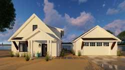 Modern-Farmhouse Style Home Design Plan: 52-303